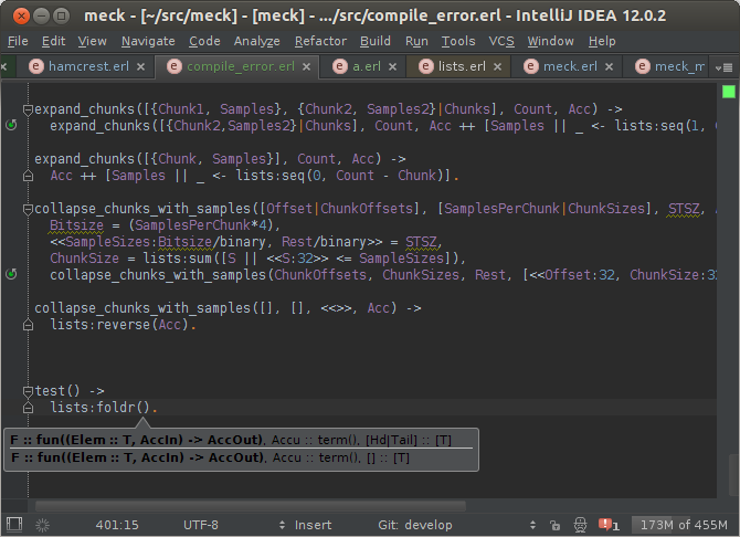 Function parameter info handler