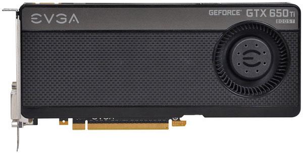 EVGA ставит на 3D-карту GeForce GTX 650 Ti Boost радиальный вентилятор и разгоняет ее GPU до 1137 МГц