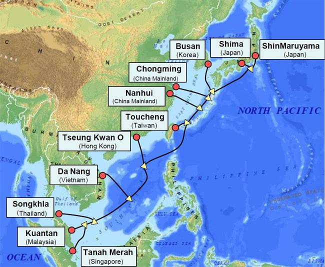 Facebook проложит подводный кабель в Азии