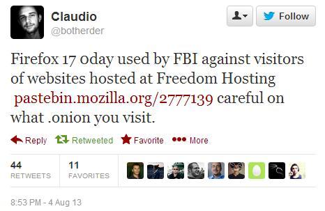 Firefox 17 0day via Freedom Hosting