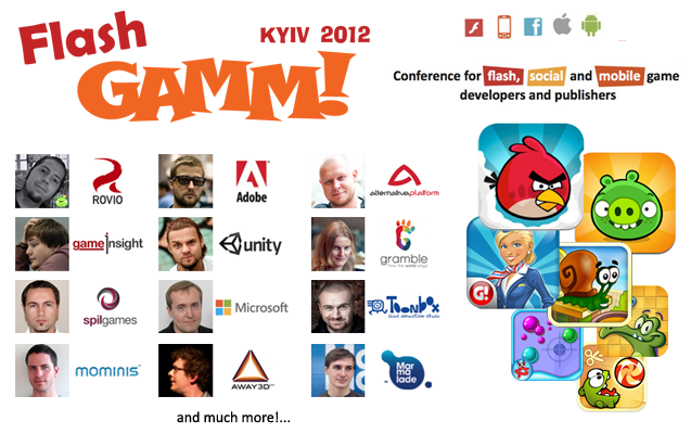 Flash GAMM Kyiv 2012: flash, social, mobile game development conference