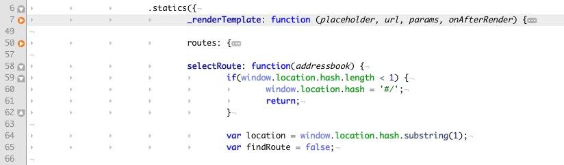 Folding для объектов JavaScript в TextMate