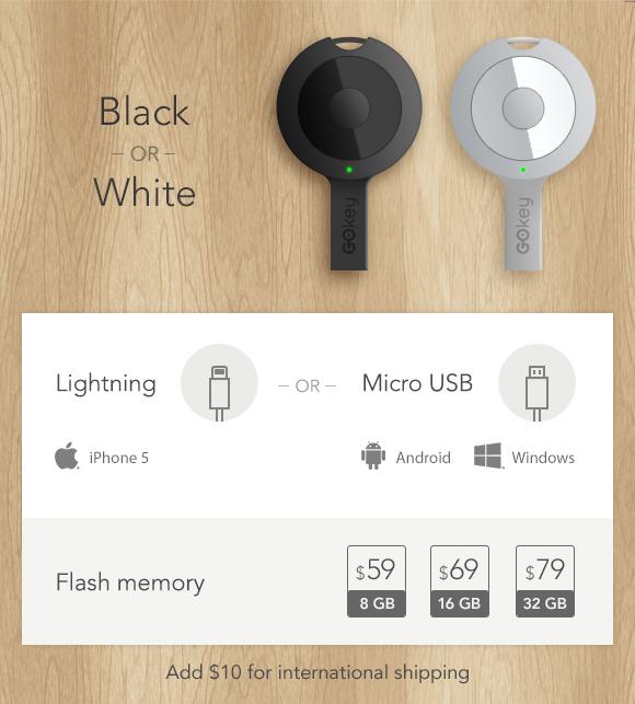 GOkey: дата кабель, аккумулятор, флешка и обнаружитель ключей в одном флаконе