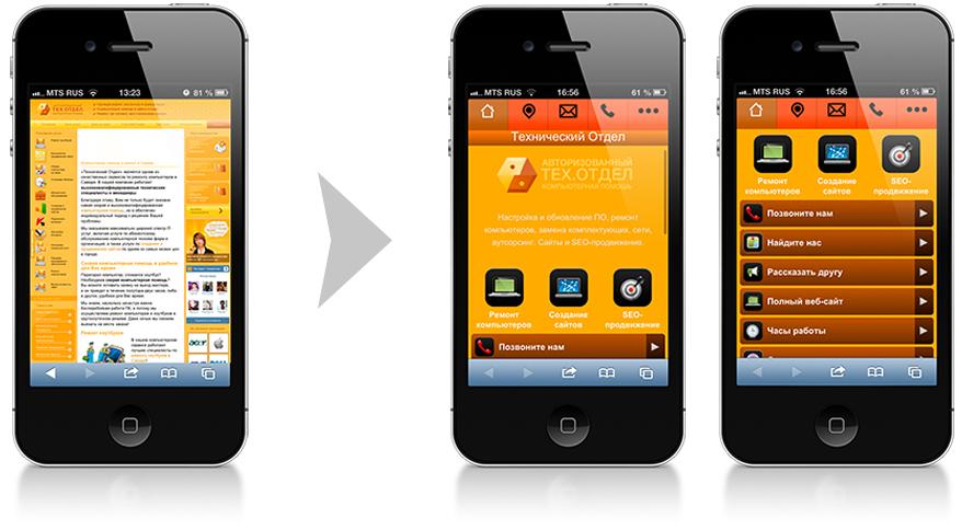 GoMobi: создаем мобильные версии сайтов