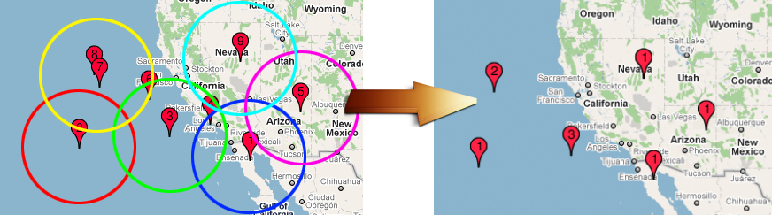 Google Maps clustering