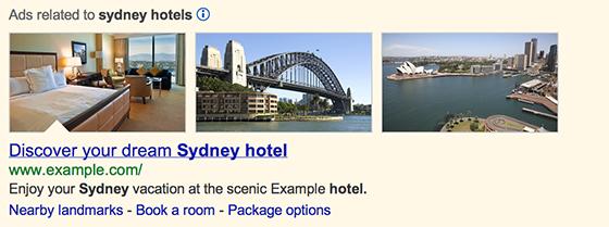 Google добавил релевантные изображения к рекламе Adwords на странице поисковой выдачи