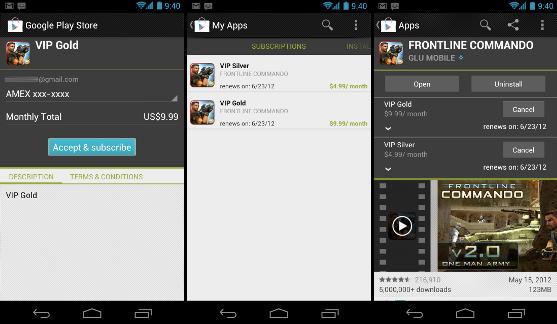 Google добавляет возможность периодических платежей в Google Play