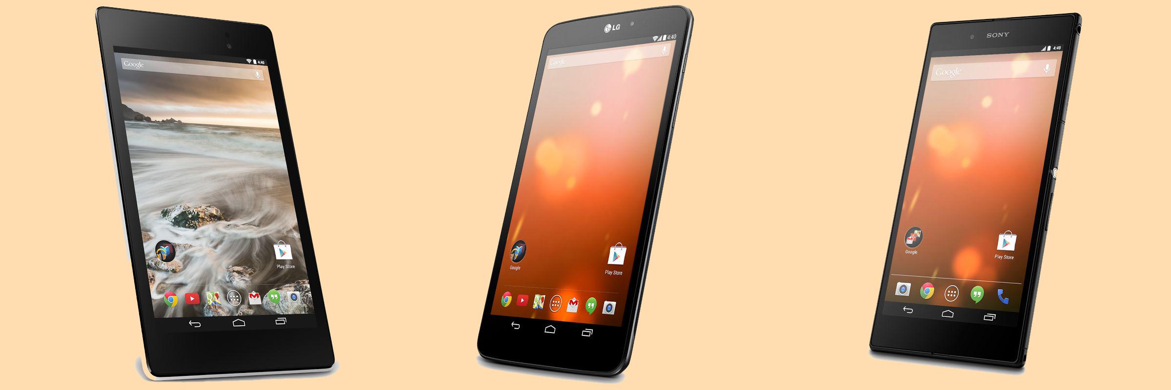 Google представил LG G Pad 8.3, Sony Z Ultra и белый Nexus 7
