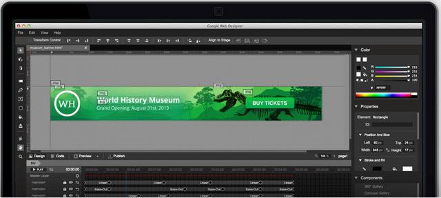 Google выпустил HTML5 редактор для веб дизайна