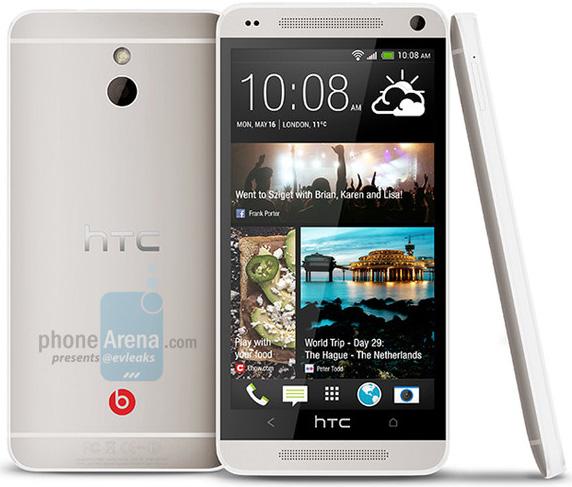 Судя по предварительному изображению, HTC M4 будет уменьшенной копией модели One
