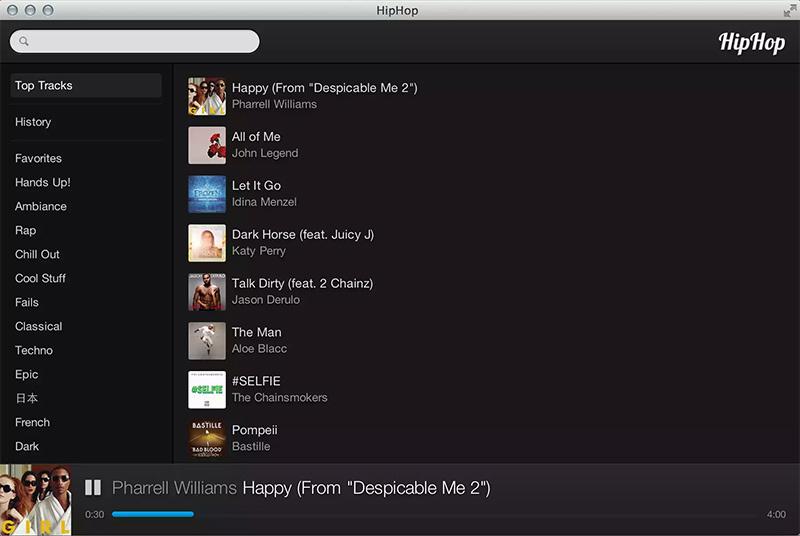 HipHop: аналог Popcorn Time для музыки