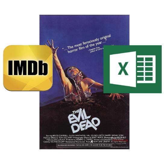 IMDB, «Зловещие Мертвецы» и немного Excel