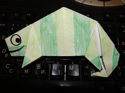 IT — оригами своими руками — Хамелеон openSUSE