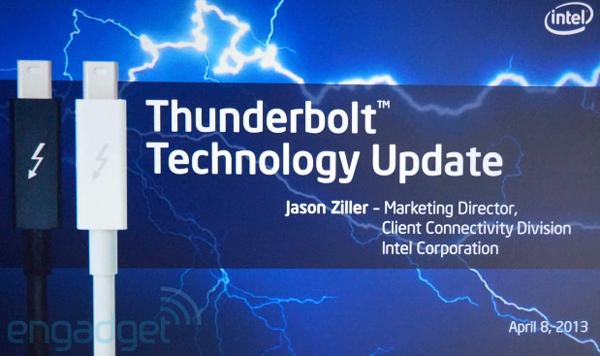 Intel анонсирует увеличение скорости Thunderbolt до 20 Гбит/с