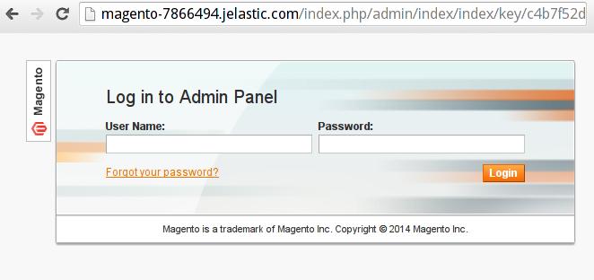 magento admin panel