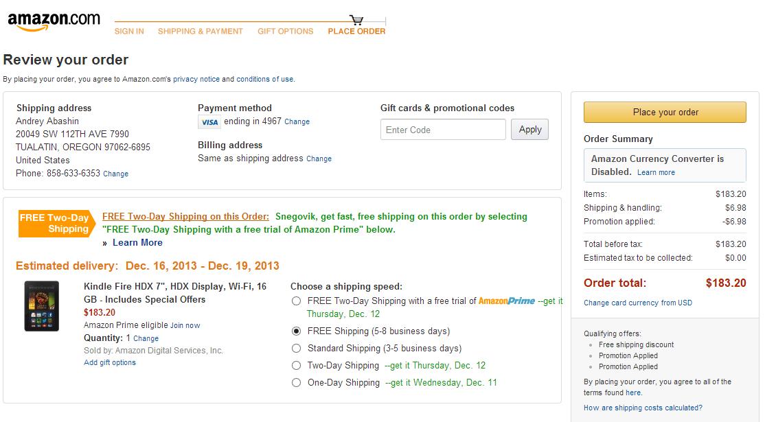 Kindle Fire HDX — доступный планшет от Amazon