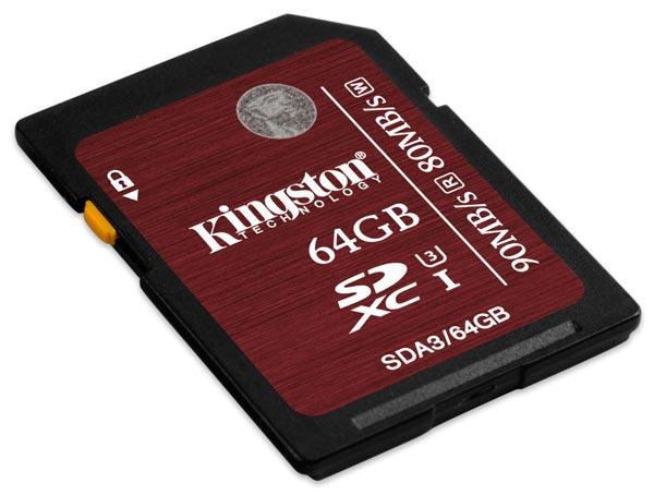 Новые карточки Kingston Digital выпускаются объемом 16, 32 и 64 ГБ