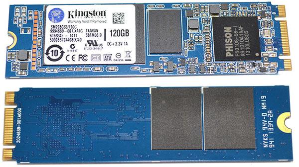 На плате Kingston SM2280S3 установлена память DDR3, используемая для кэширования