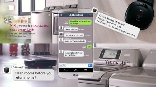 LG научил умный дом говорить через мессенджер Line