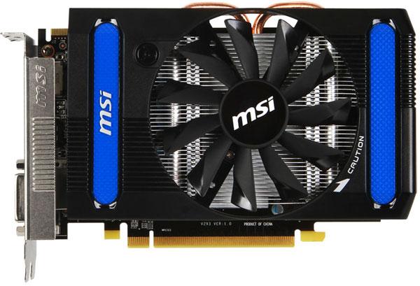 Графический процессор модели MSI R7790-2GD5/OC работает на частоте 1050 МГц