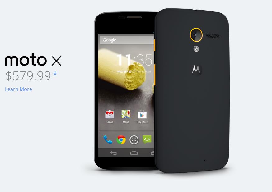 Moto X официально поступил в продажу