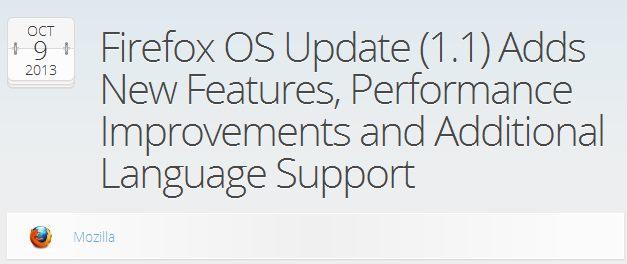 Mozilla выпустила Firefox OS 1.1