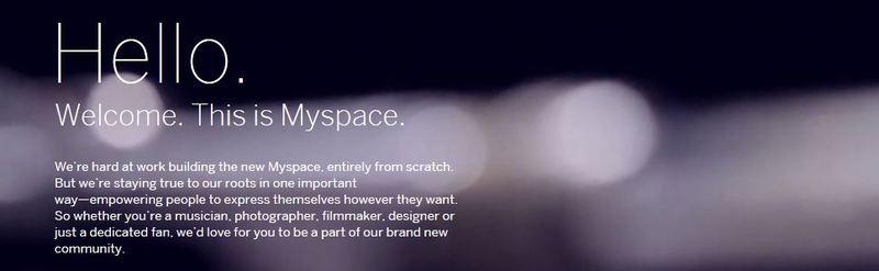 Myspace: Перезагрузка