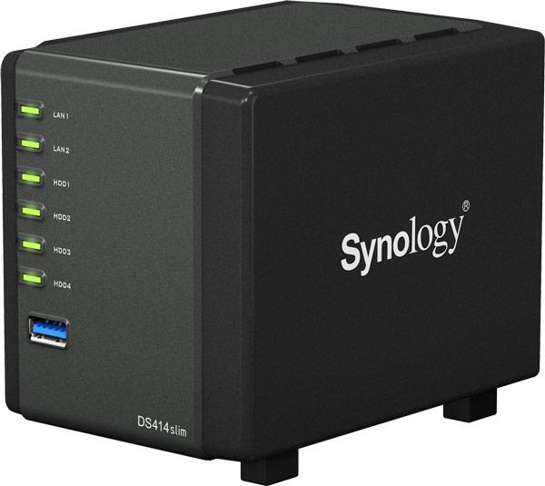 Сервер Synology DiskStation DS414slim работает под управлением операционной системы DiskStation Manager (DSM) 5.0