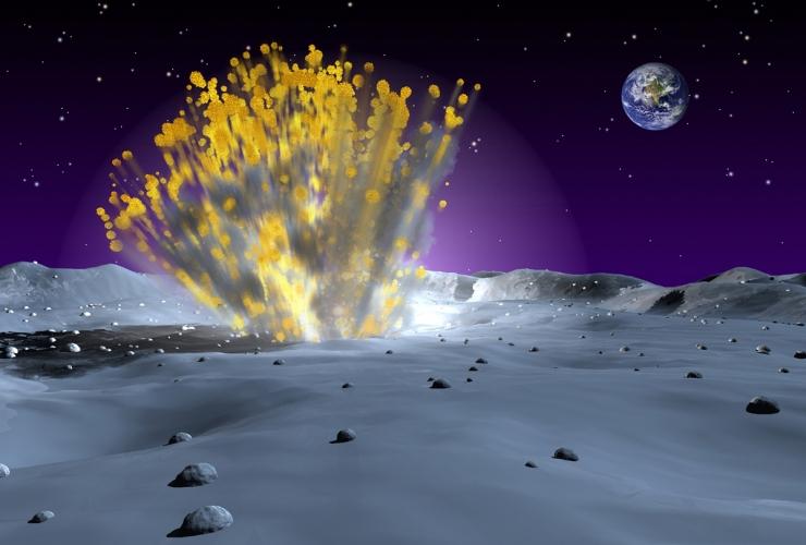 NASA зарегистрировала крупнейший за историю современных наблюдений взрыв на Луне