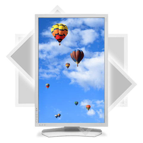 Покупатель может выбрать монитор NEC MultiSync PA302W белого или черного цвета