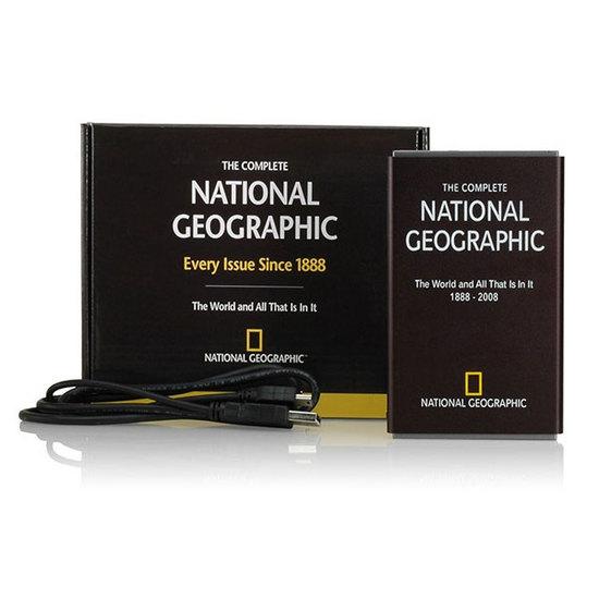 National Geographic выпустила жесткий диск со всеми выпусками журнала 1888 2009 и бонусами