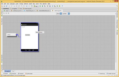 Navigation Editor — новый инструмент в Android Studio