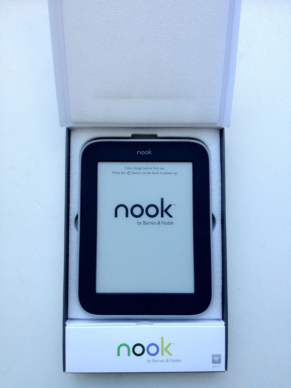 Nook Simple Touch with Glow Light: Unboxing и краткий обзор