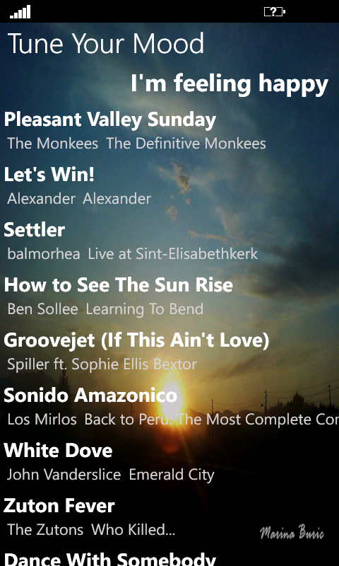 Not another internet radio — Tune Your Mood WP7
