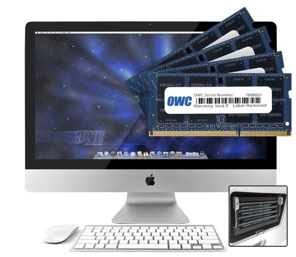 Комплекты суммарным объемом от 8 до 32 ГБ предназначены для 27-дюймовых моделей Apple iMac