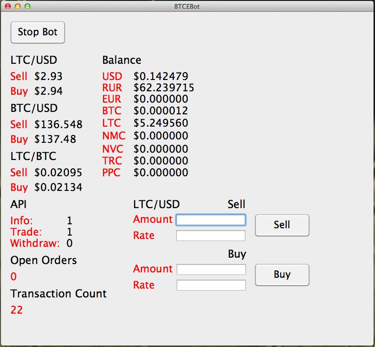 Open Source: Пишем бота для биржи BTC E