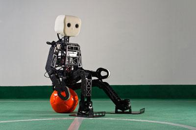 Open source роботы играют в футбол