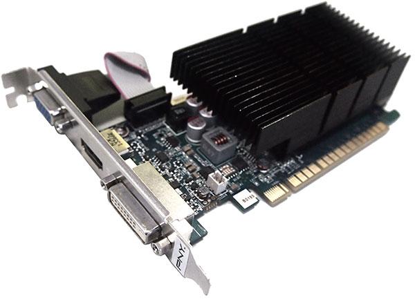 Графическая карта PNY GeForce GT 730 оснащена интерфейсом PCI Express 3.0 8x и видеовыходами DVI, VGA и HDMI