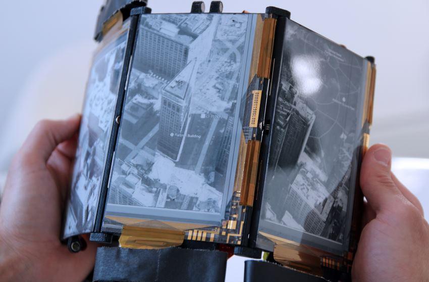 PaperFold: складной смартфон с тремя гибкими дисплеями