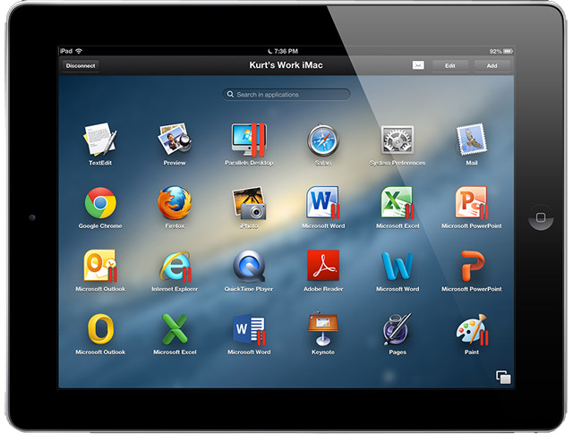 Parallels Access: работа с приложениями Windows и OS X на планшете iPad