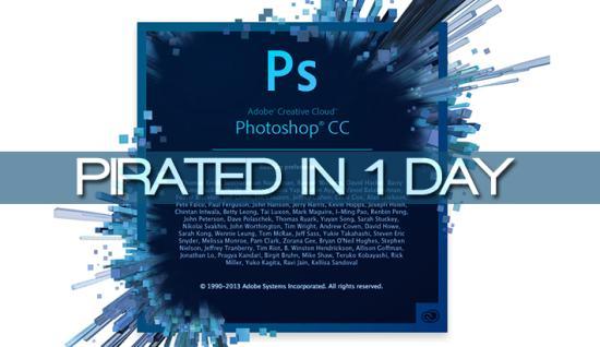 Photoshop CC взломали всего за один день