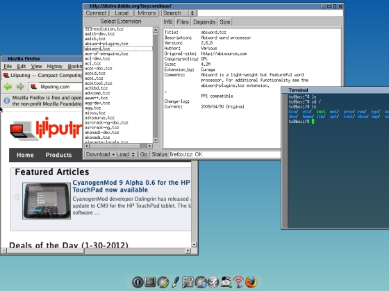 PiCore: дистрибутив Linux объемом в 25 МБ для Raspberry Pi