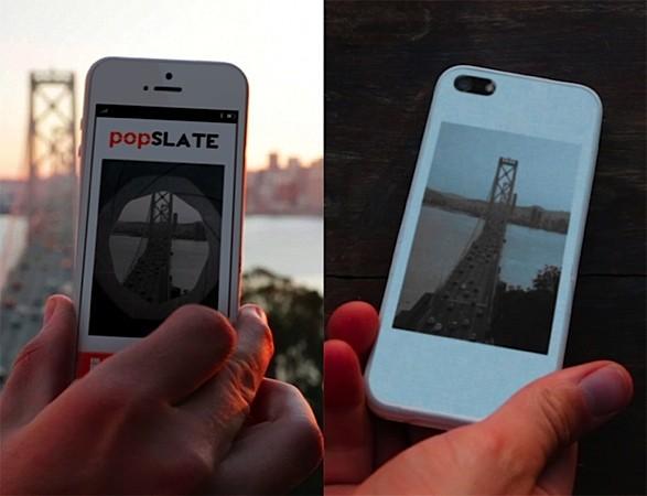 Popslate — чехол с четырехдюймовым экраном E Ink для iPhone 5, пока существующий в виде проекта