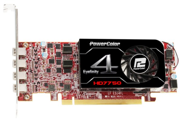 PowerColor HD7750 2GB GDDR5 Eyefinity 4 LP Edition