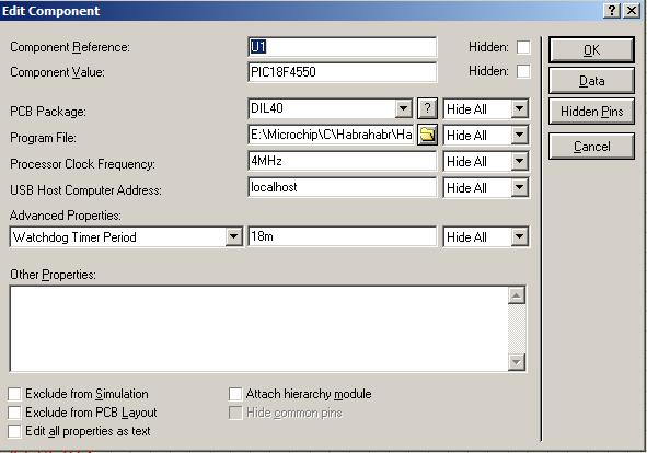 Proteus и два с половиной hello world для UART и USB на микроконтроллере