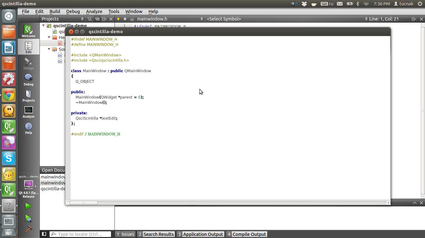 QScintilla: подсвечиваем синтаксис в приложении