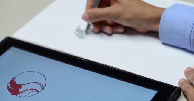 Qualcomm Ultra Sound NotePad: звуковая передача данных со стилуса на планшет