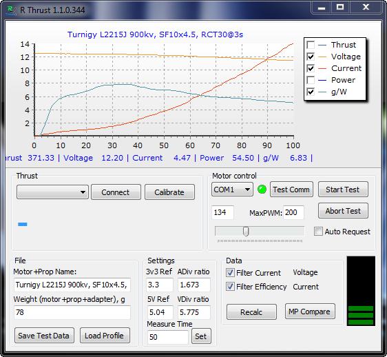 RThrust — система автоматического тестирования БК моторов