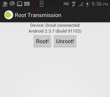 Root Transmission: получаем Root права на одном Android устройстве при помощи другого Android устройства